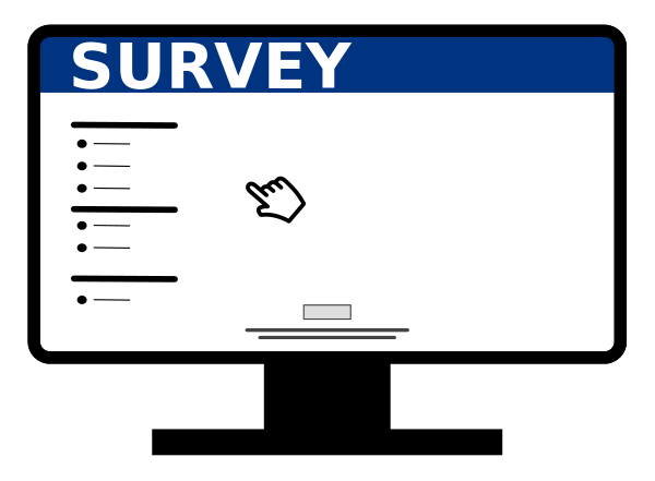 Icon of an online survey form