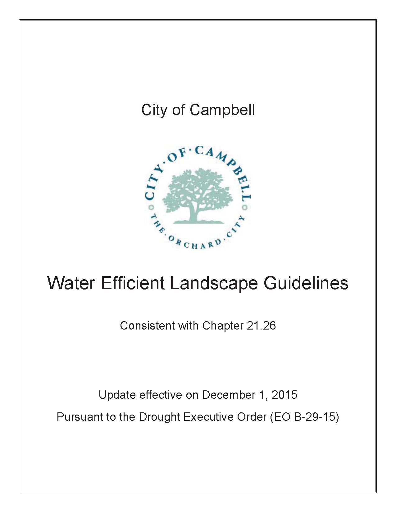 Water Efficient Landscape Guidelines