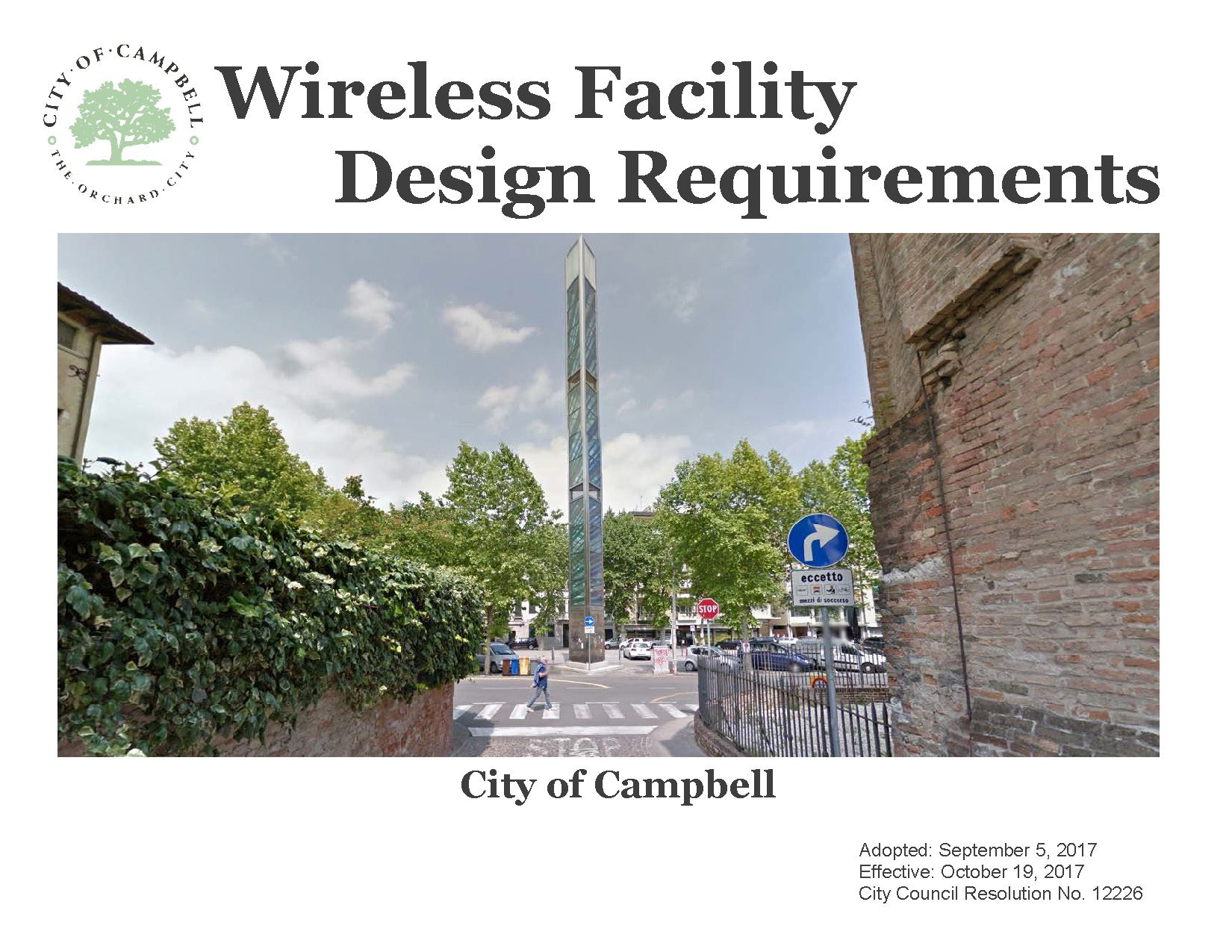 Wireless Facility Design Requirements
