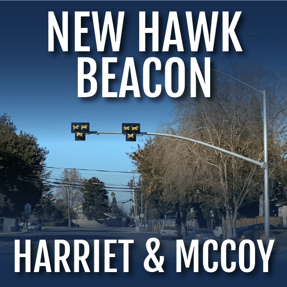HAWK Beacon coming soon to Campbell in text. With image of HAWK beacon under construction.