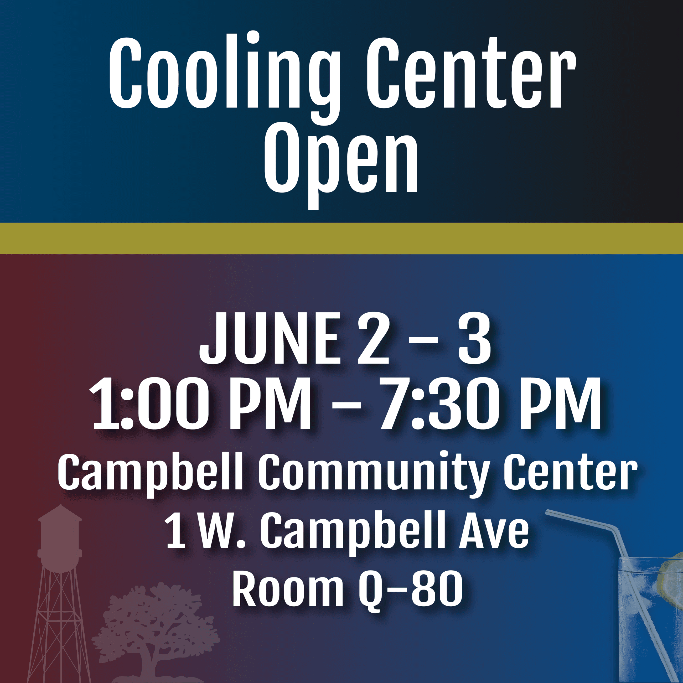 Cooling Center at the Community Center Room Q-80.