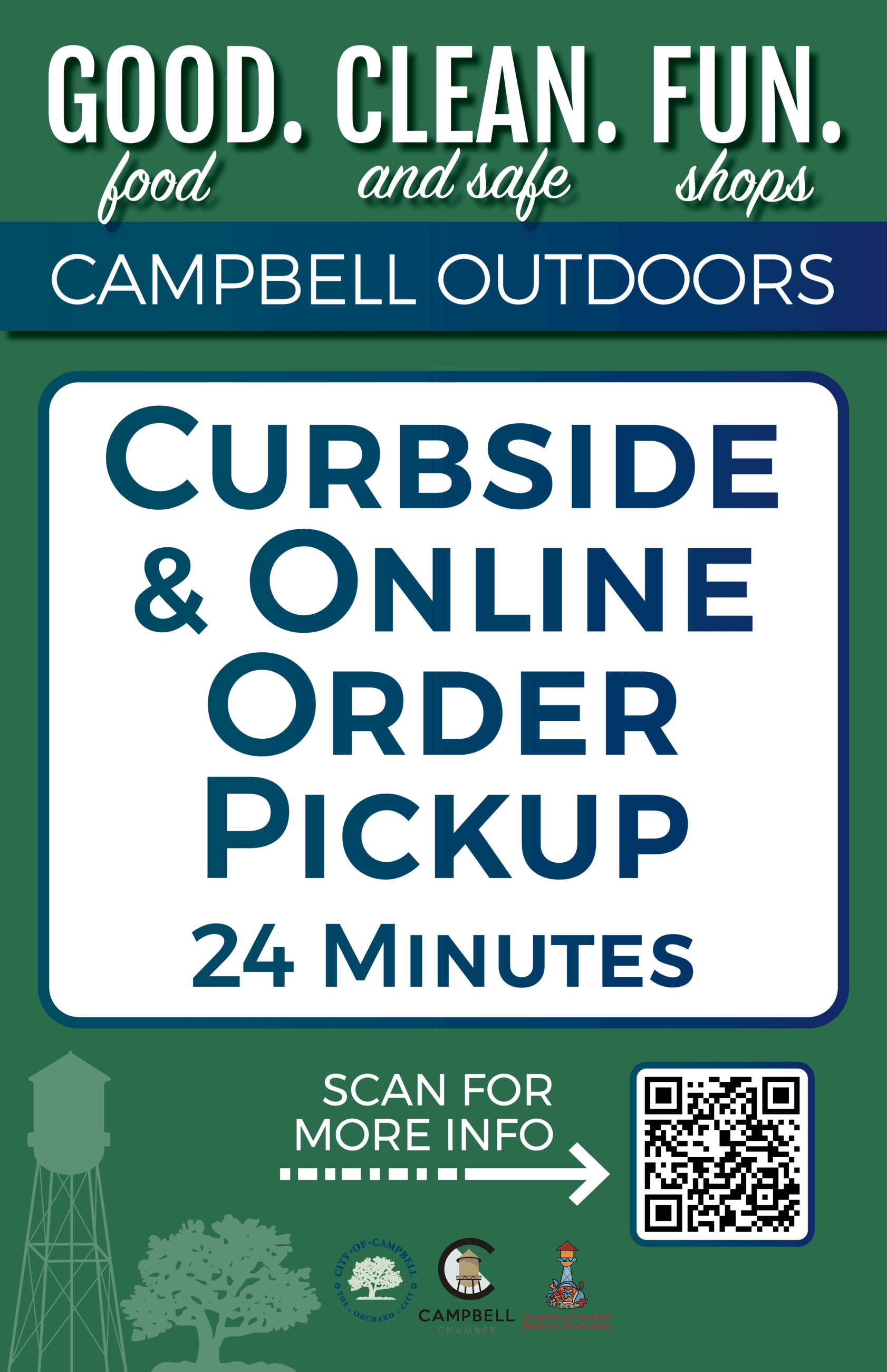 Curbside & Online Order Pickup Parking Sign
