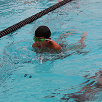 Swim Lessons offered to swimmers ages 8-14 years at the Campbell Community Center pool