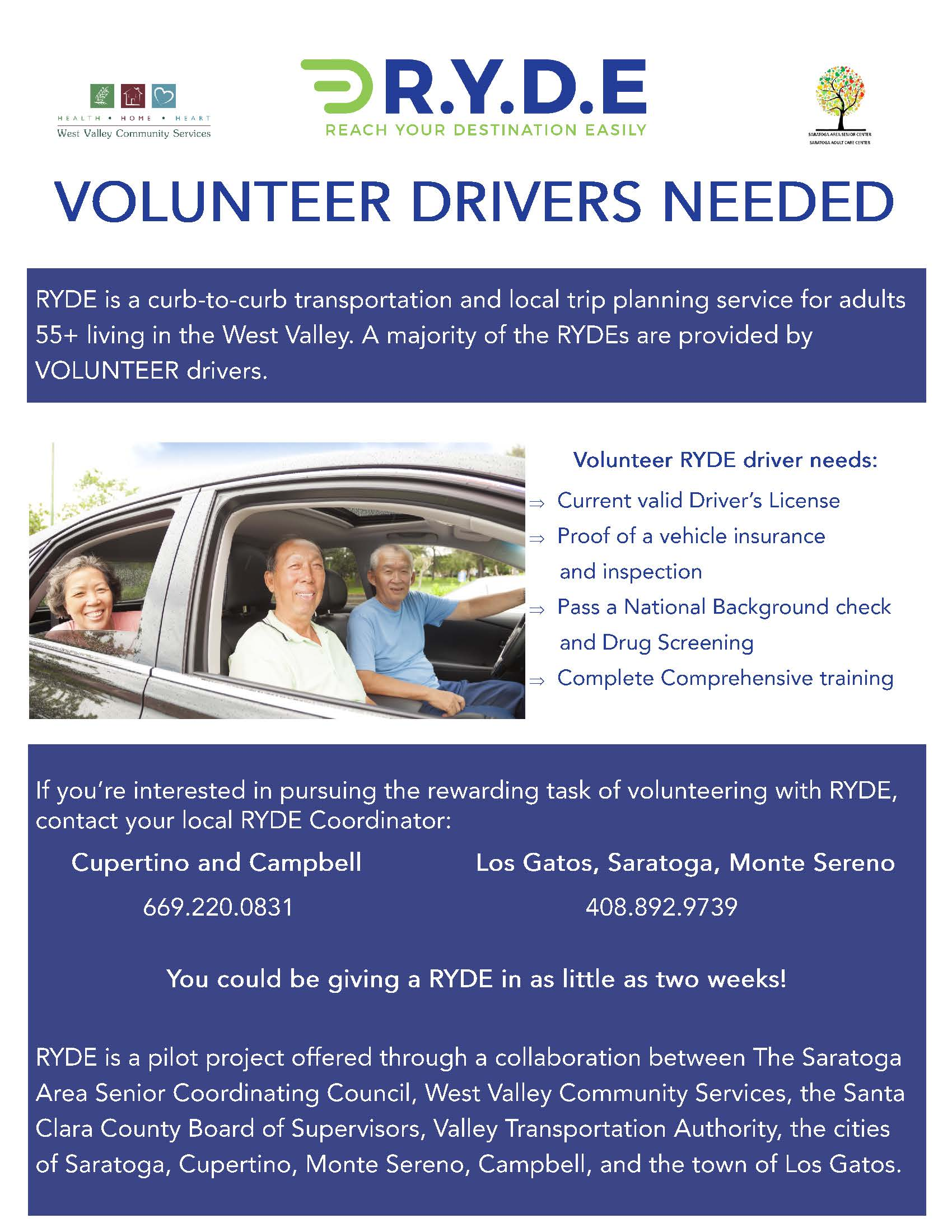 RYDE Volunteer Flyer